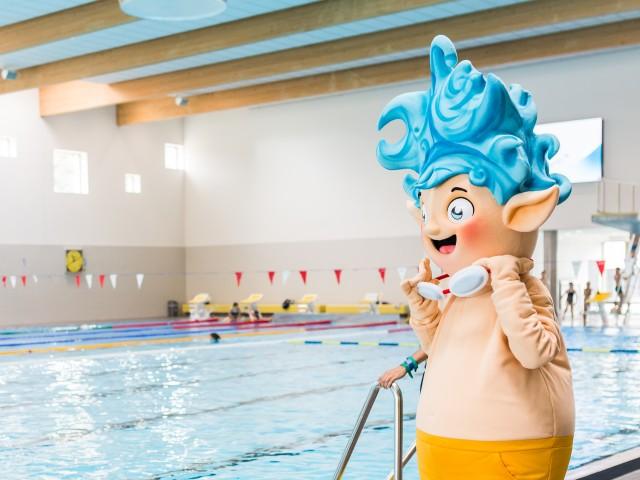 Willi Welle vom Kinderklub im Sport- und Freizeitbad blu, © SekundenstillFotgrafie