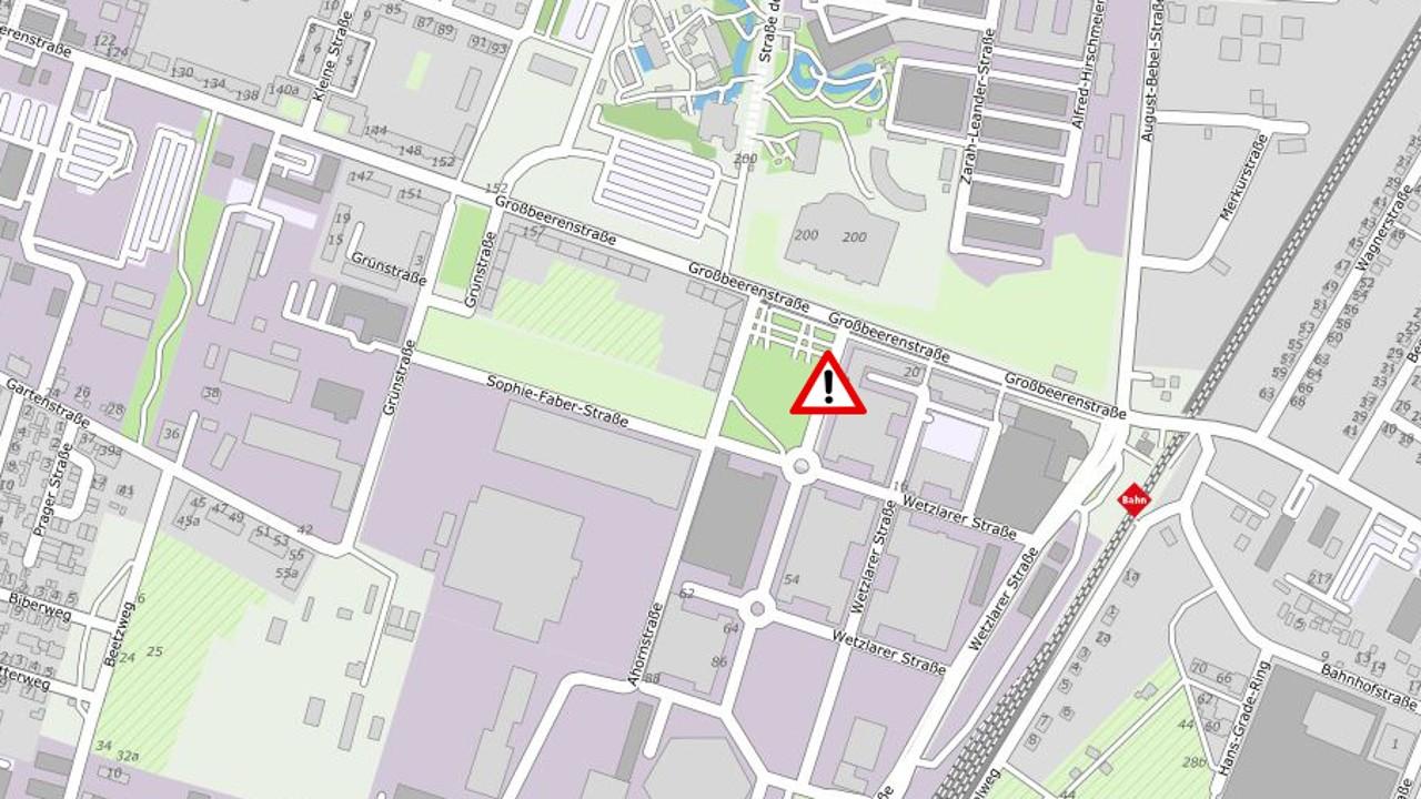 Kartenausschnitt Babelsberg Süd