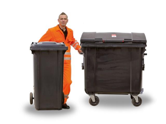 Wir vermieten Ihnen Müllgroßbehälter in verschiedenen Größen für Ihre Abfälle