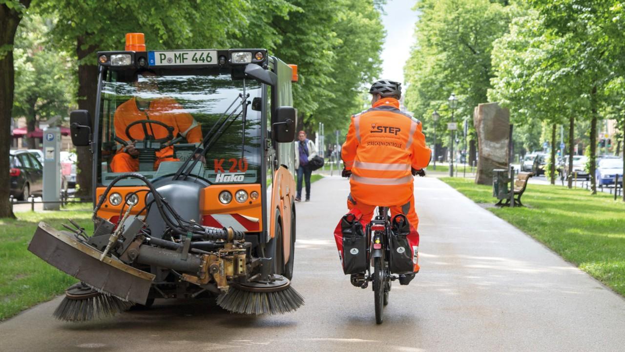 STEP-Radwegreinigung, © Katrin Paulus