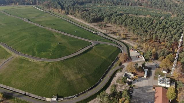 Luftaufnahme von der stillgelegten Deponie Fresdorfer Heide