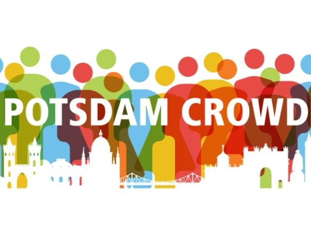 Grafik Potsdam Crowd mit vielen bunten Personen