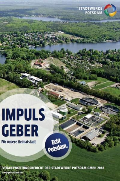 Titelbild vom Verantwortungsbericht der Stadtwerke Potsdam