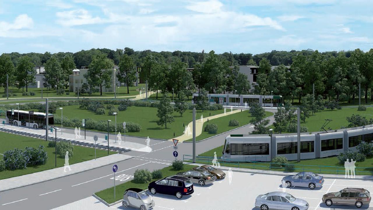 Wendeschleife Campus Jungfernsee - Visuales Bild, © Kontur